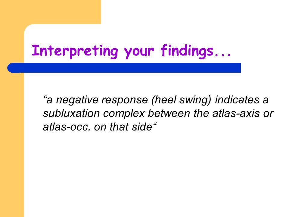 Interpreting your findings...