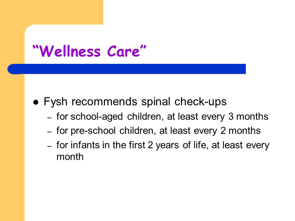 Wellness Care Fysh recommends spinal check-ups