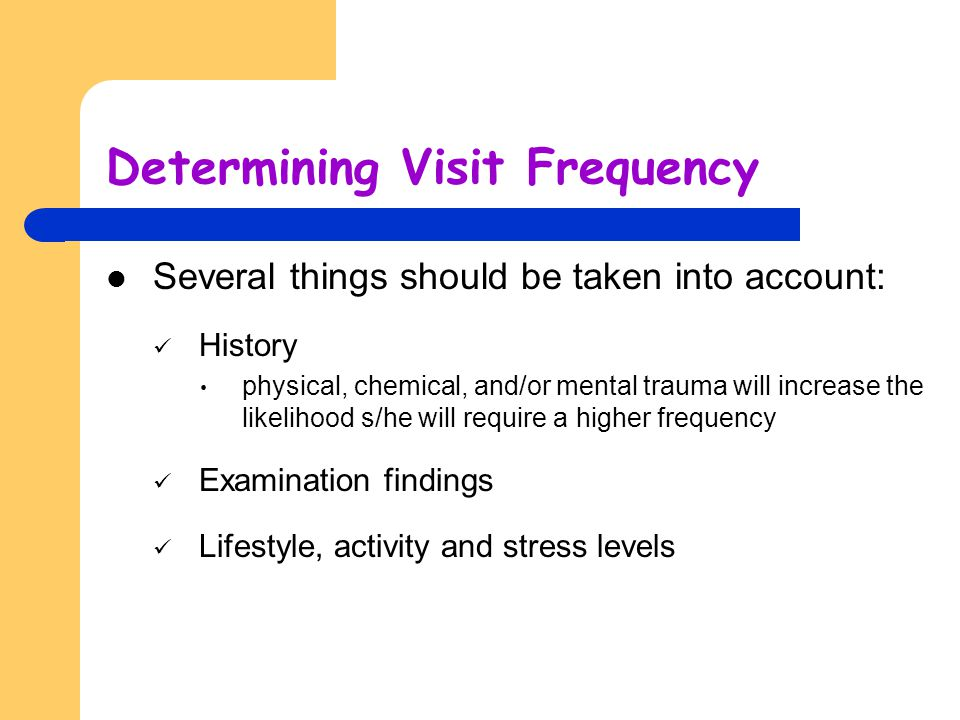 Determining Visit Frequency