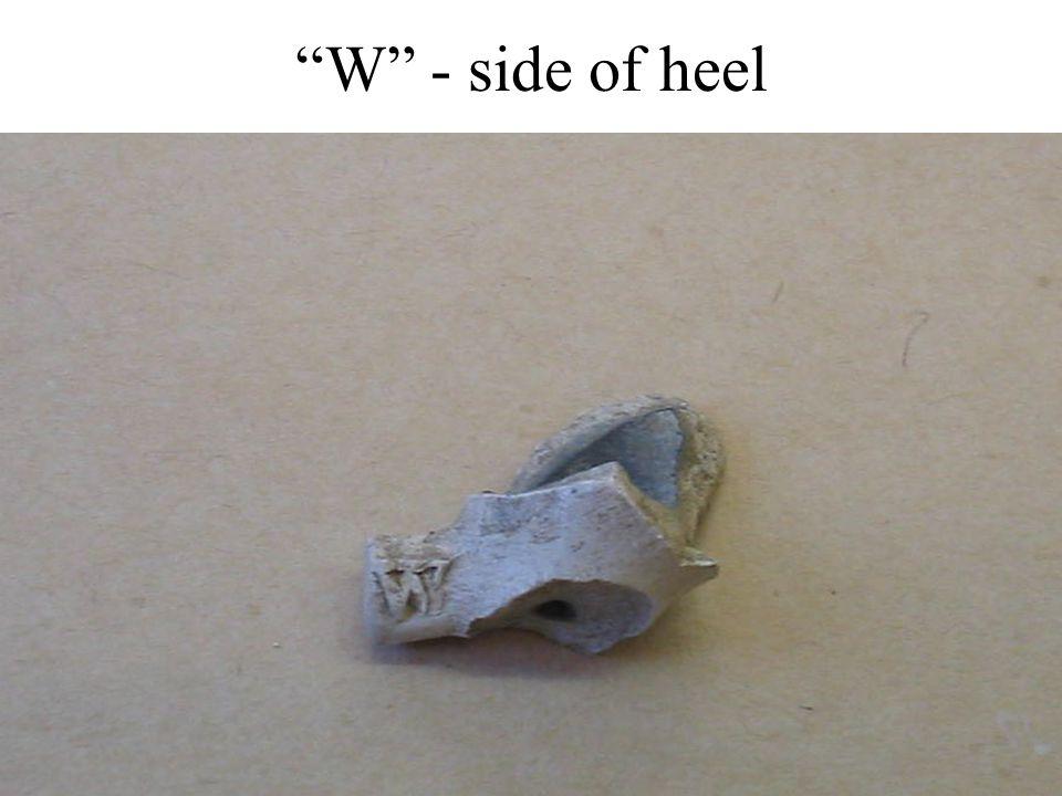 W - side of heel