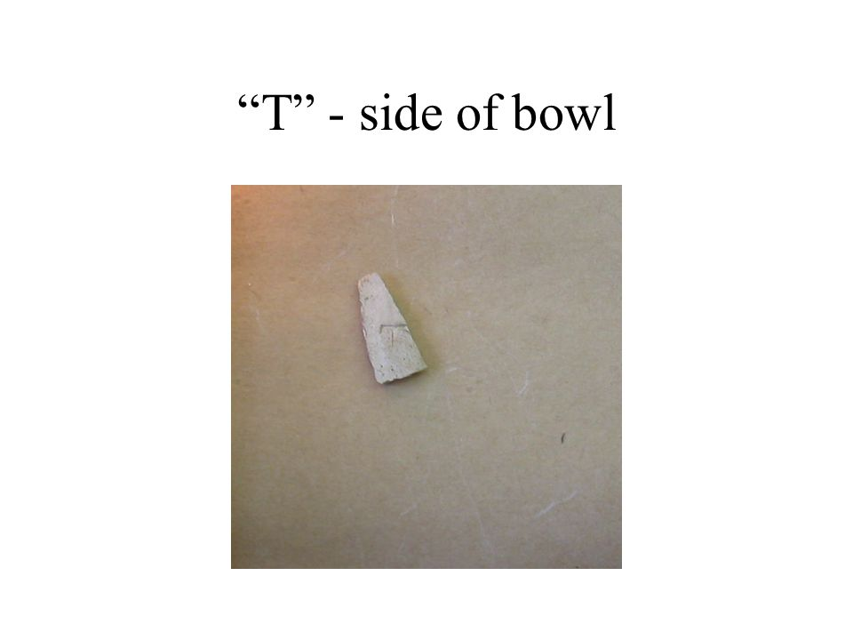 T - side of bowl