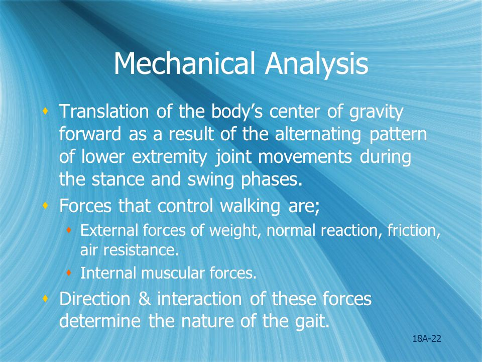 Mechanical Analysis