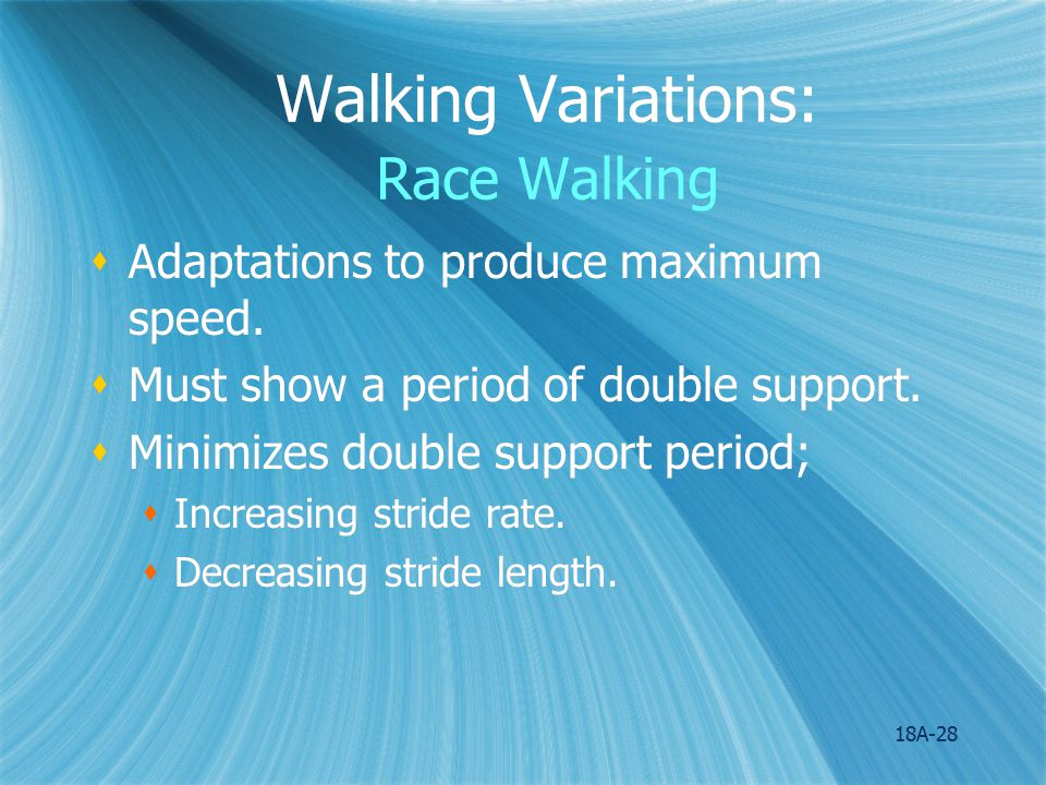 Walking Variations: Race Walking