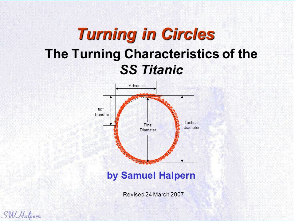 The Turning Characteristics of the SS Titanic by Samuel Halpern
