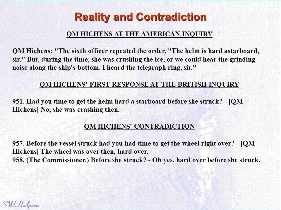 Reality and Contradiction