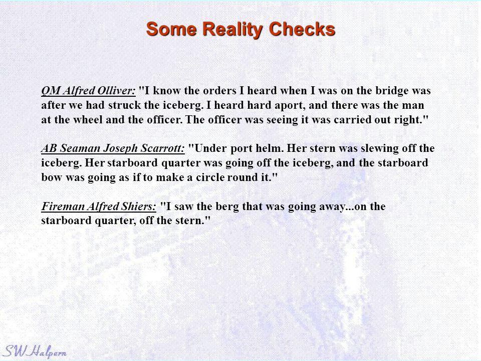 Some Reality Checks