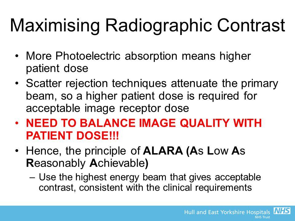 Maximising Radiographic Contrast