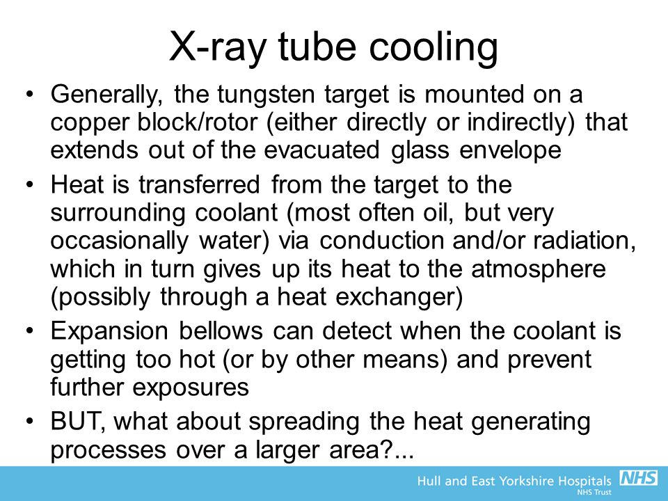 X-ray tube cooling