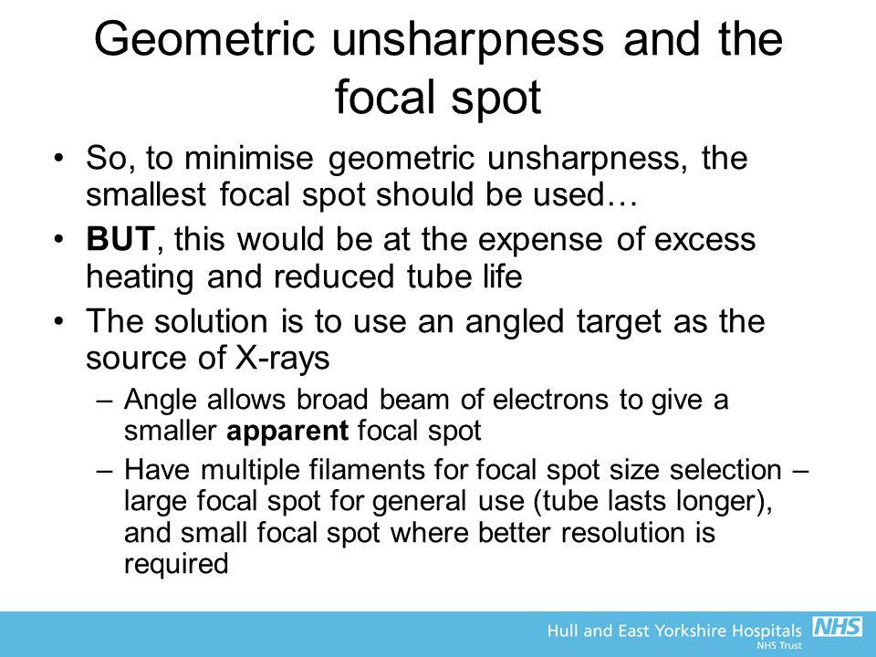 Geometric unsharpness and the focal spot