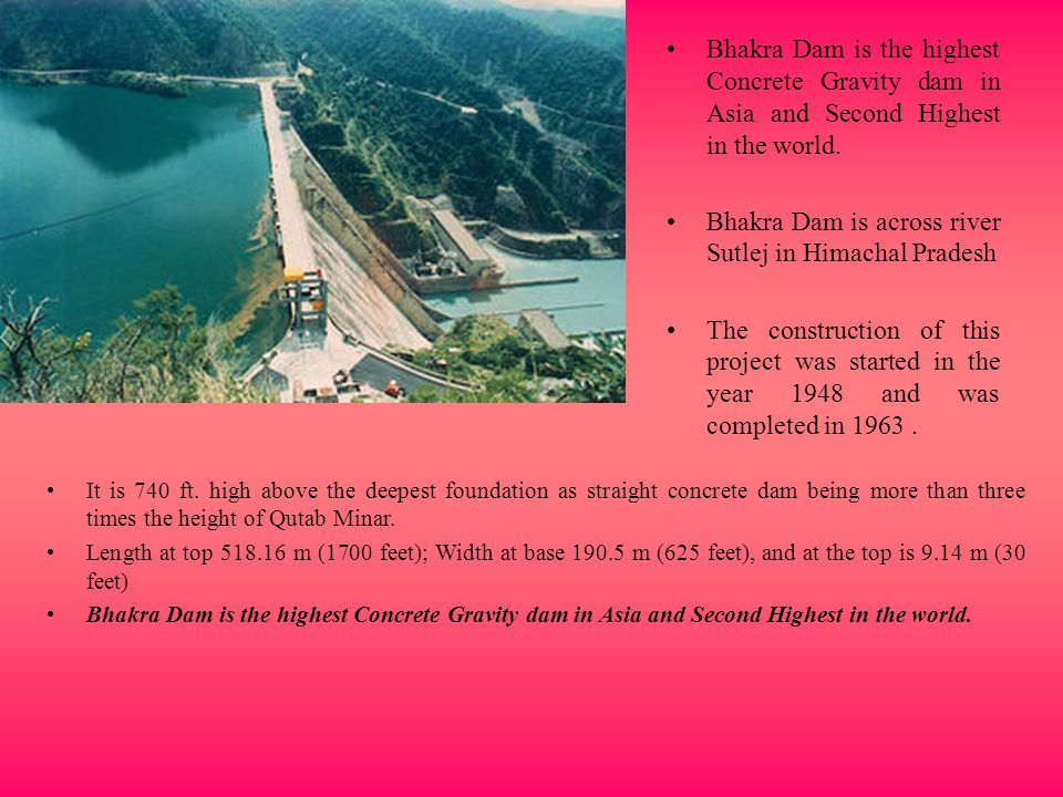 Bhakra Dam is across river Sutlej in Himachal Pradesh