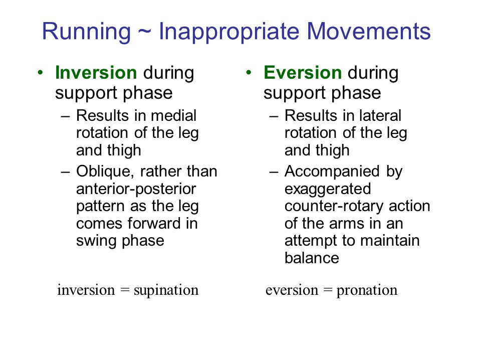 Running ~ Inappropriate Movements