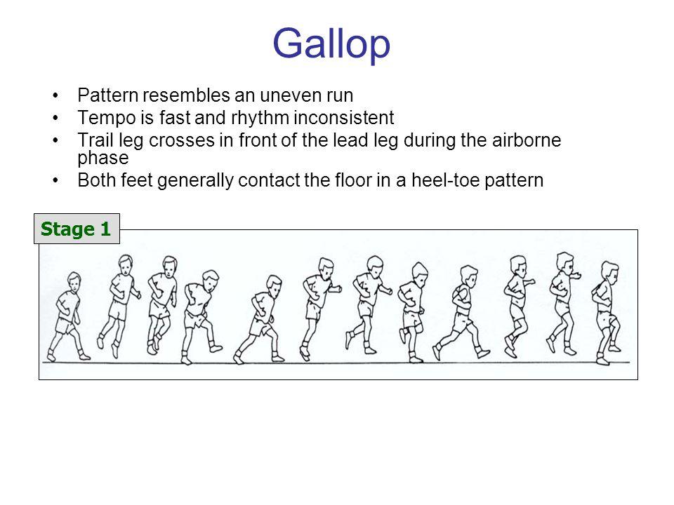 Gallop Pattern resembles an uneven run