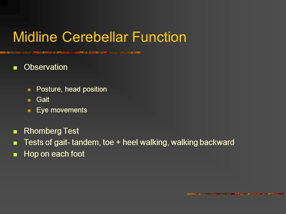 Midline Cerebellar Function
