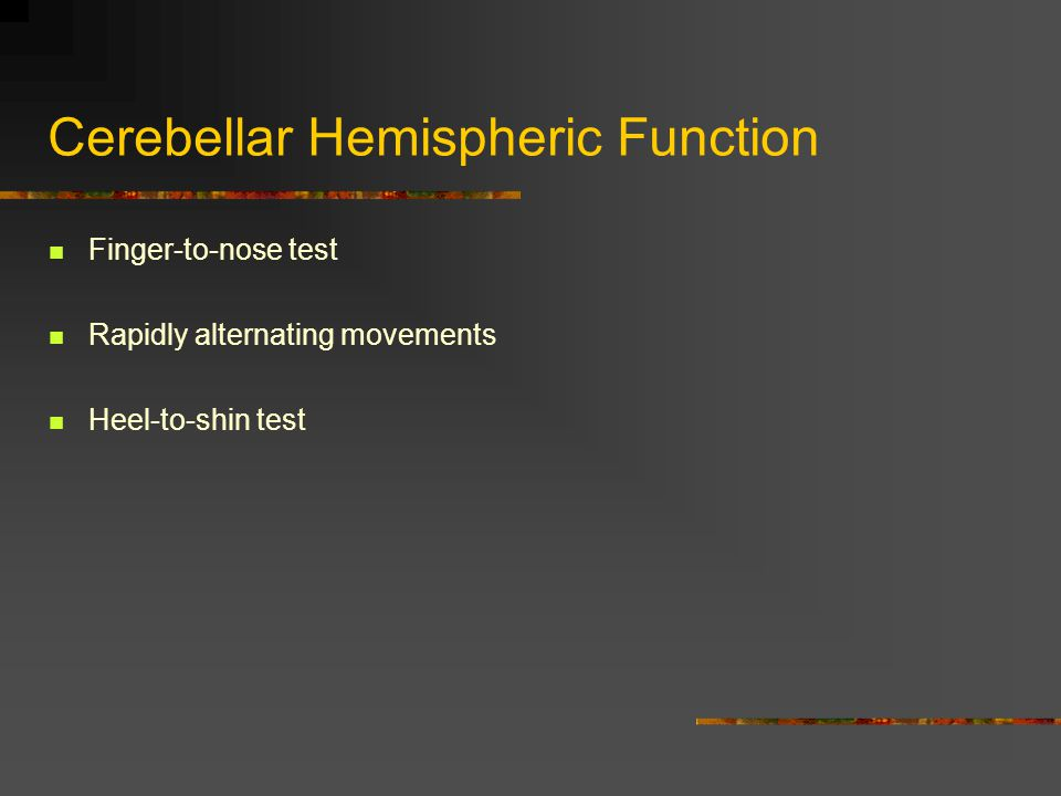 Cerebellar Hemispheric Function