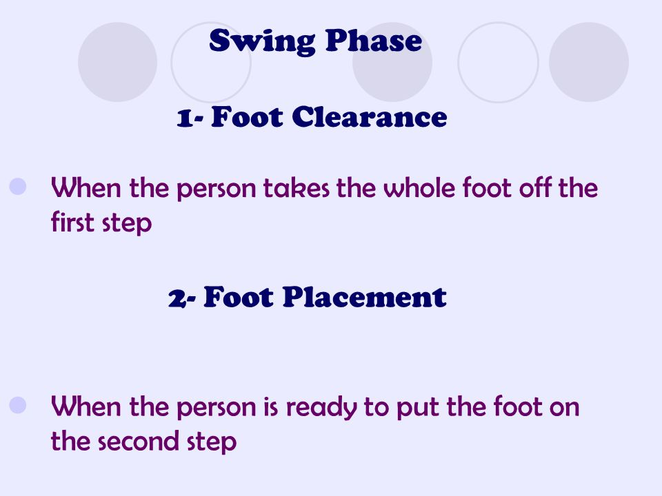 Swing Phase 1- Foot Clearance