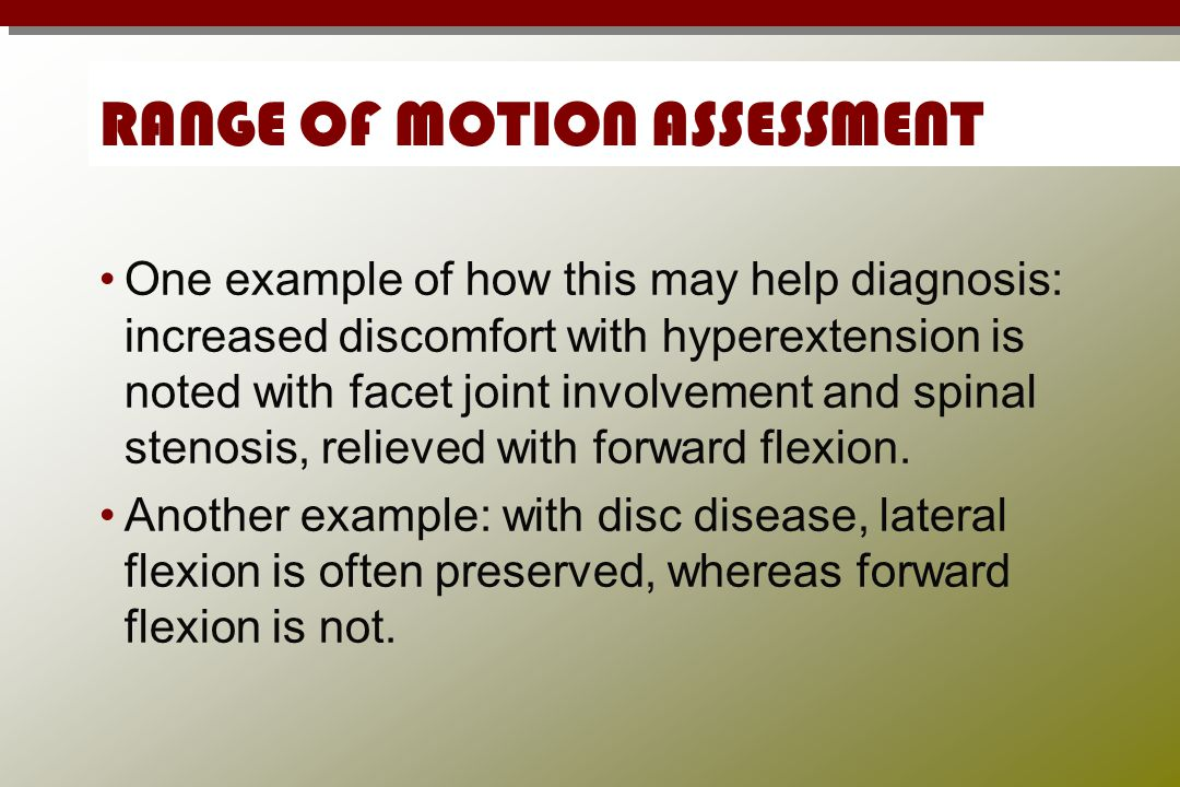 RANGE OF MOTION ASSESSMENT