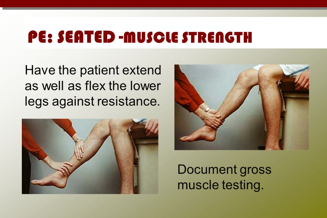 PE: SEATED -MUSCLE STRENGTH