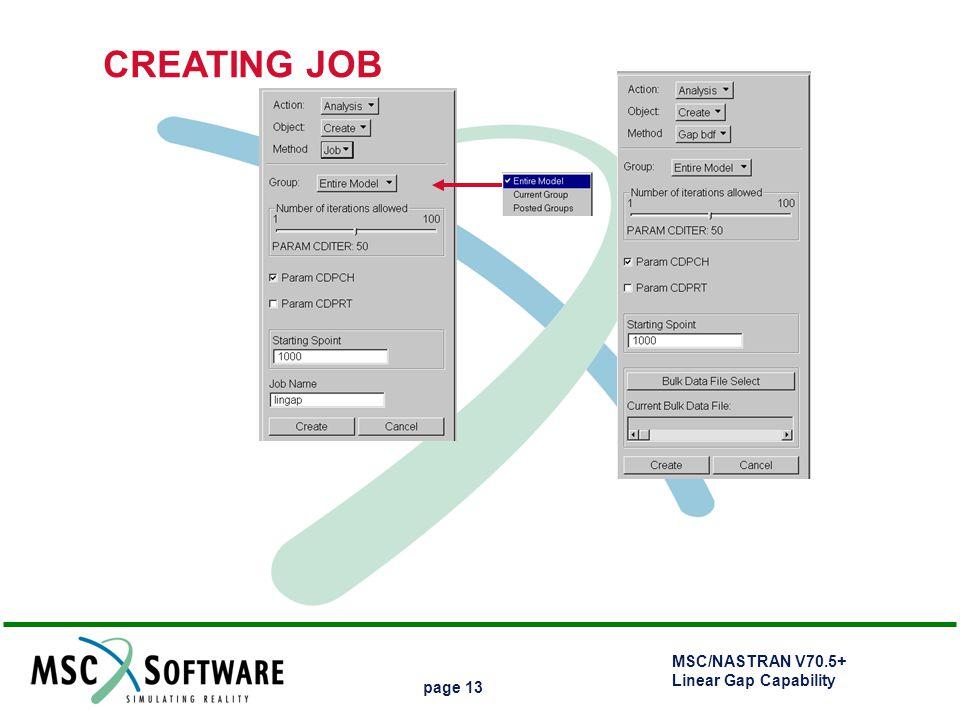 CREATING JOB