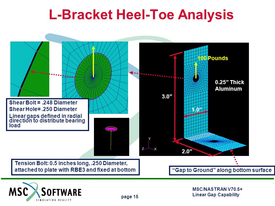 L-Bracket Heel-Toe Analysis