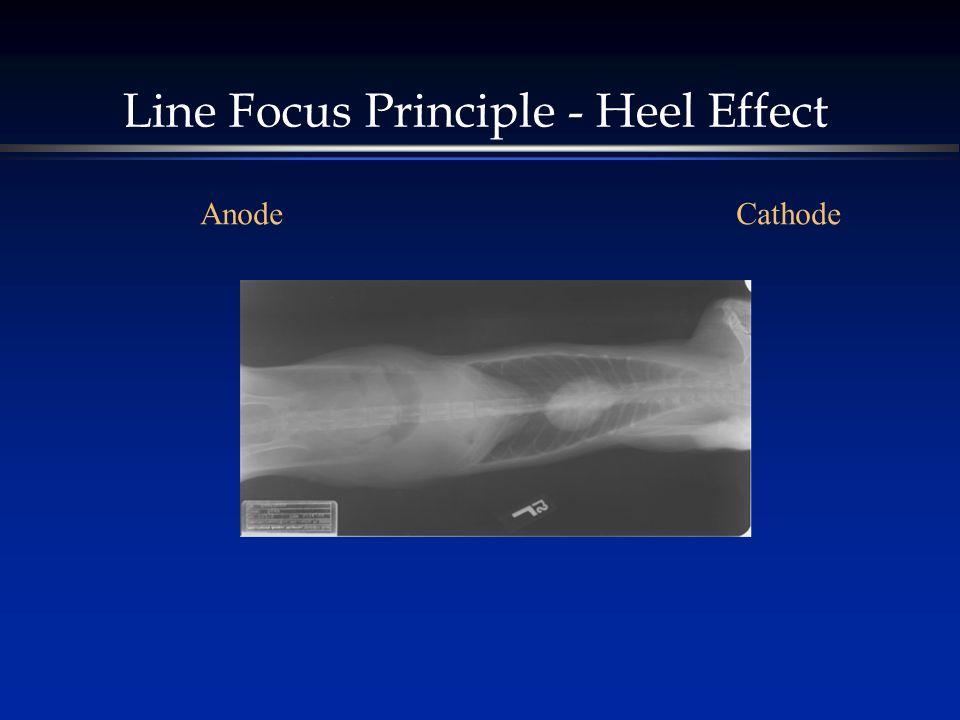 Line Focus Principle - Heel Effect