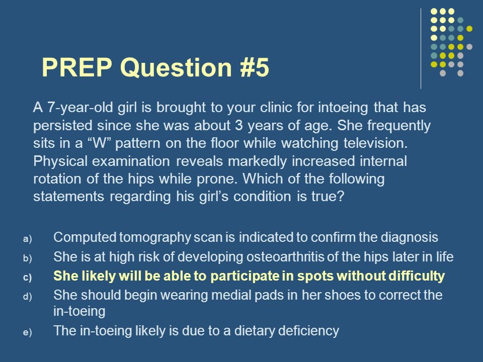 PREP Question #5
