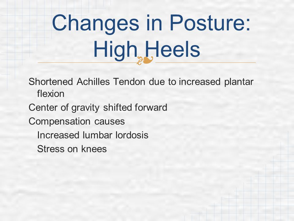 Changes in Posture: High Heels