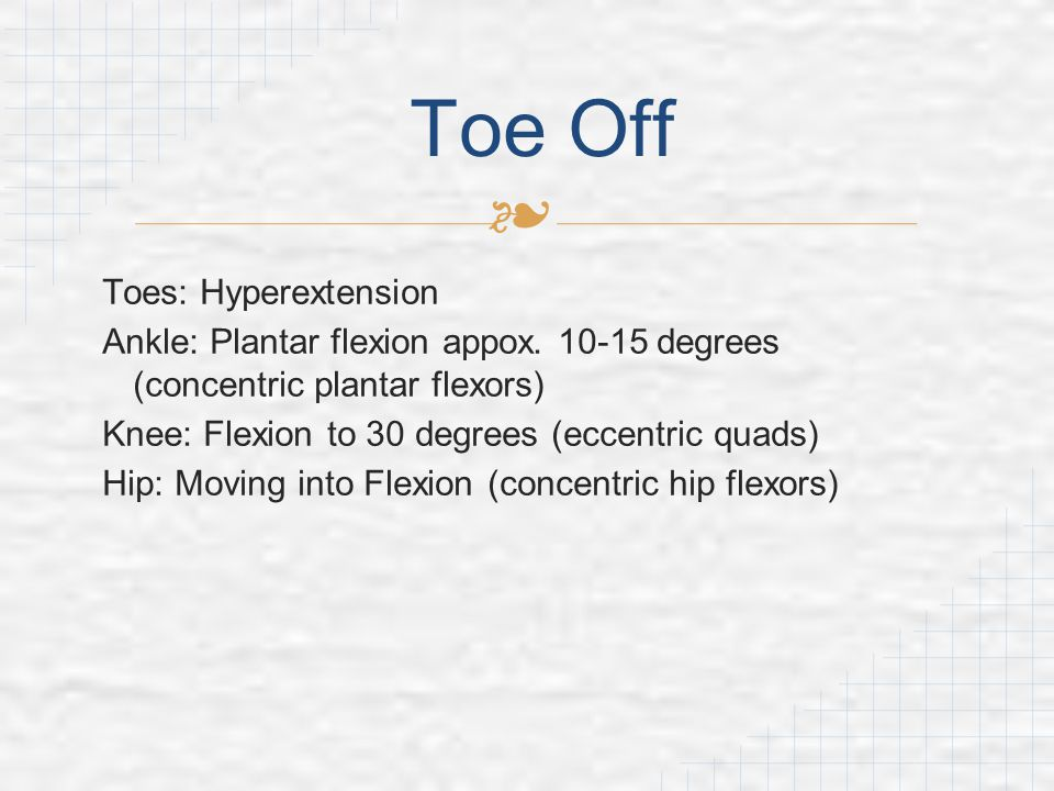 Toe Off Toes: Hyperextension