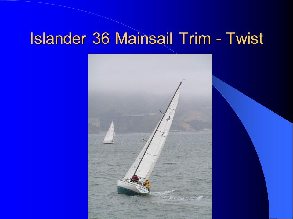Islander 36 Mainsail Trim - Twist