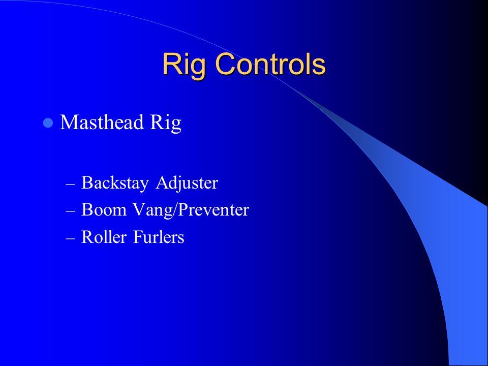 Rig Controls Masthead Rig Backstay Adjuster Boom Vang/Preventer