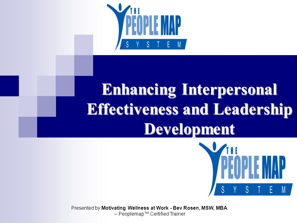 Enhancing Interpersonal Effectiveness and Leadership Development