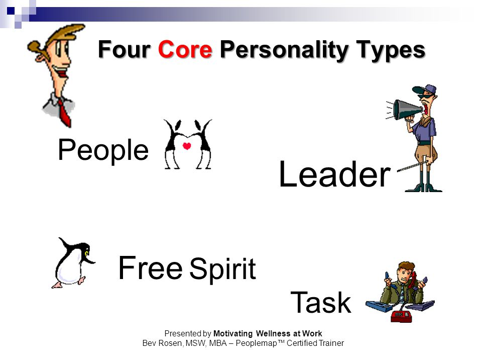Four Core Personality Types