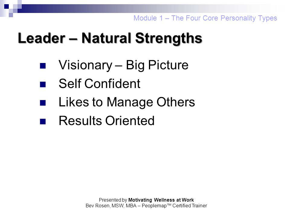 Leader – Natural Strengths