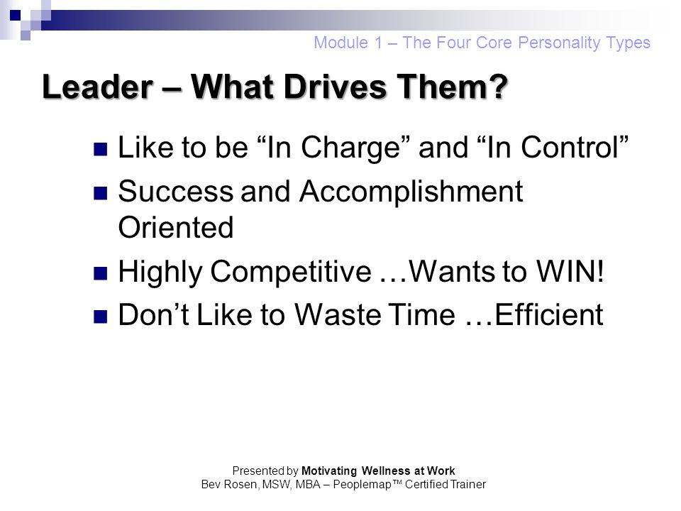 Leader – What Drives Them