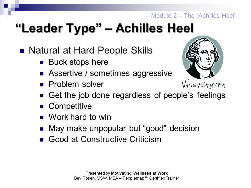 Leader Type – Achilles Heel