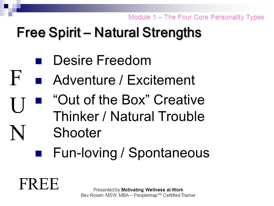 Free Spirit – Natural Strengths