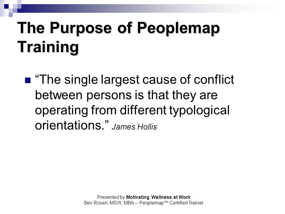 The Purpose of Peoplemap Training