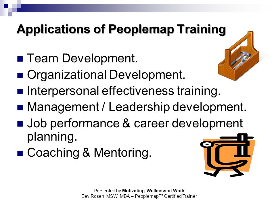 Applications of Peoplemap Training