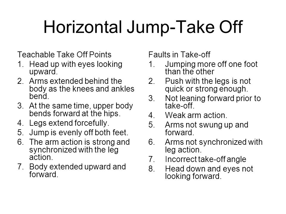 Horizontal Jump-Take Off