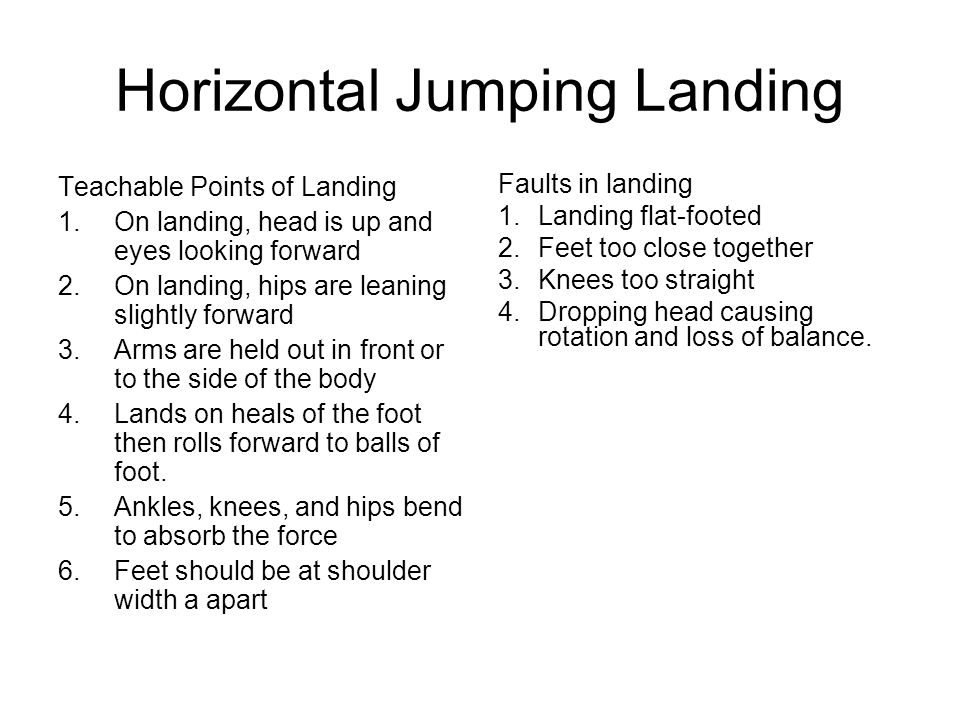 Horizontal Jumping Landing