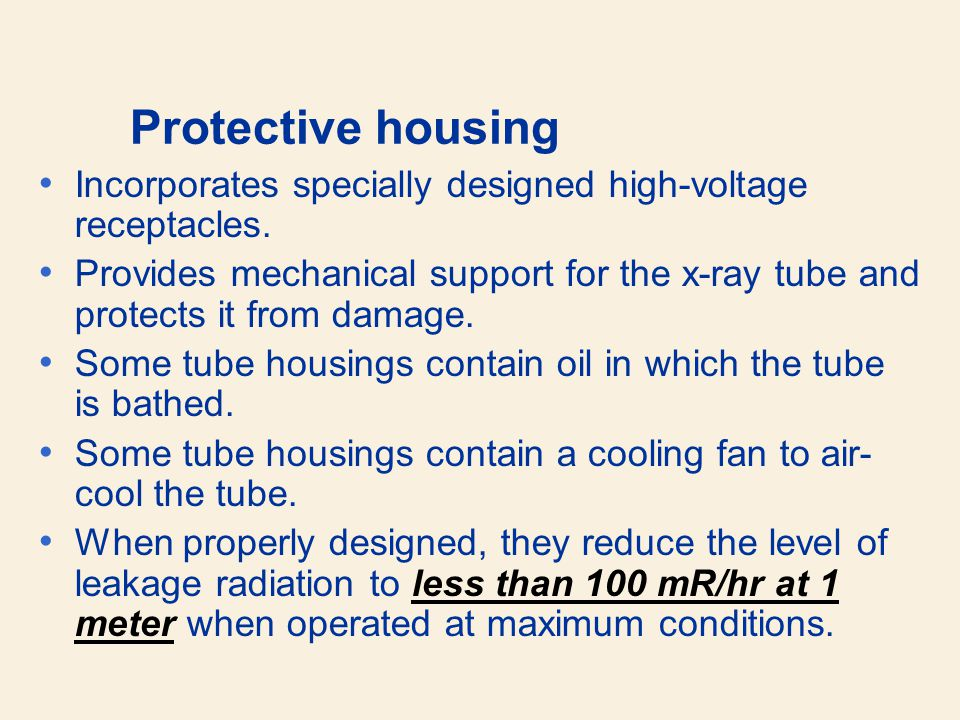 Protective housing Incorporates specially designed high-voltage receptacles.