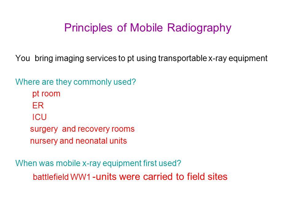 Principles of Mobile Radiography