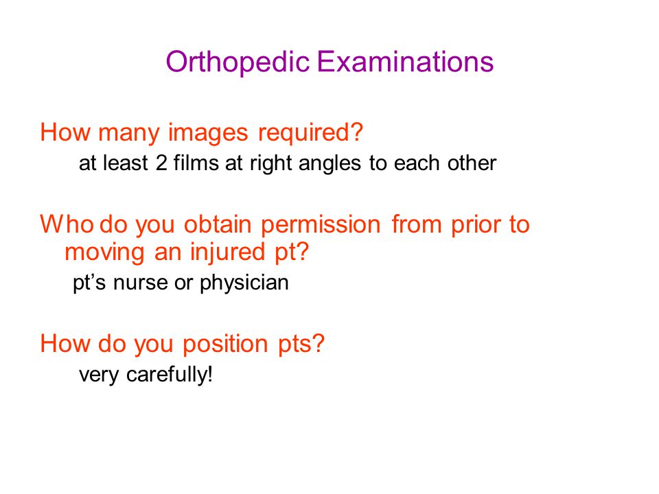 Orthopedic Examinations