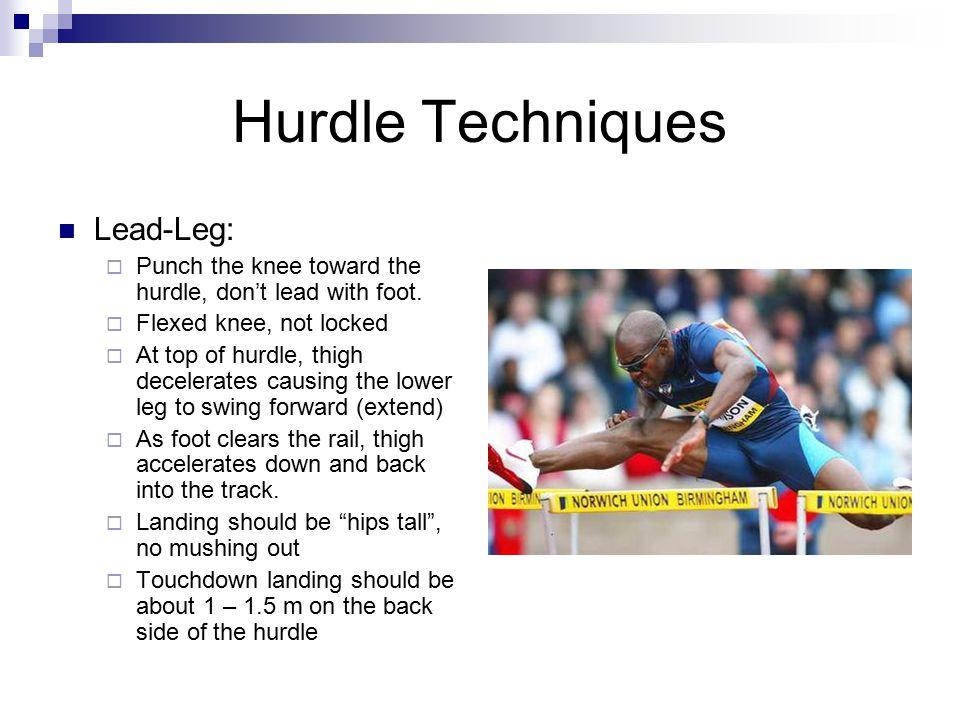 Hurdle Techniques Lead-Leg: