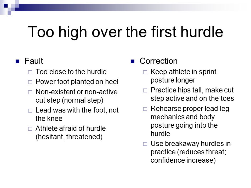 Too high over the first hurdle