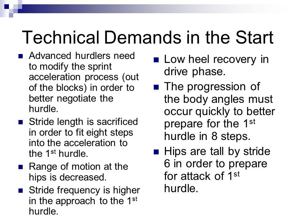 Technical Demands in the Start