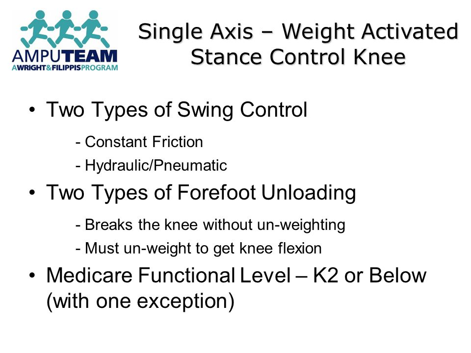 Single Axis – Weight Activated Stance Control Knee