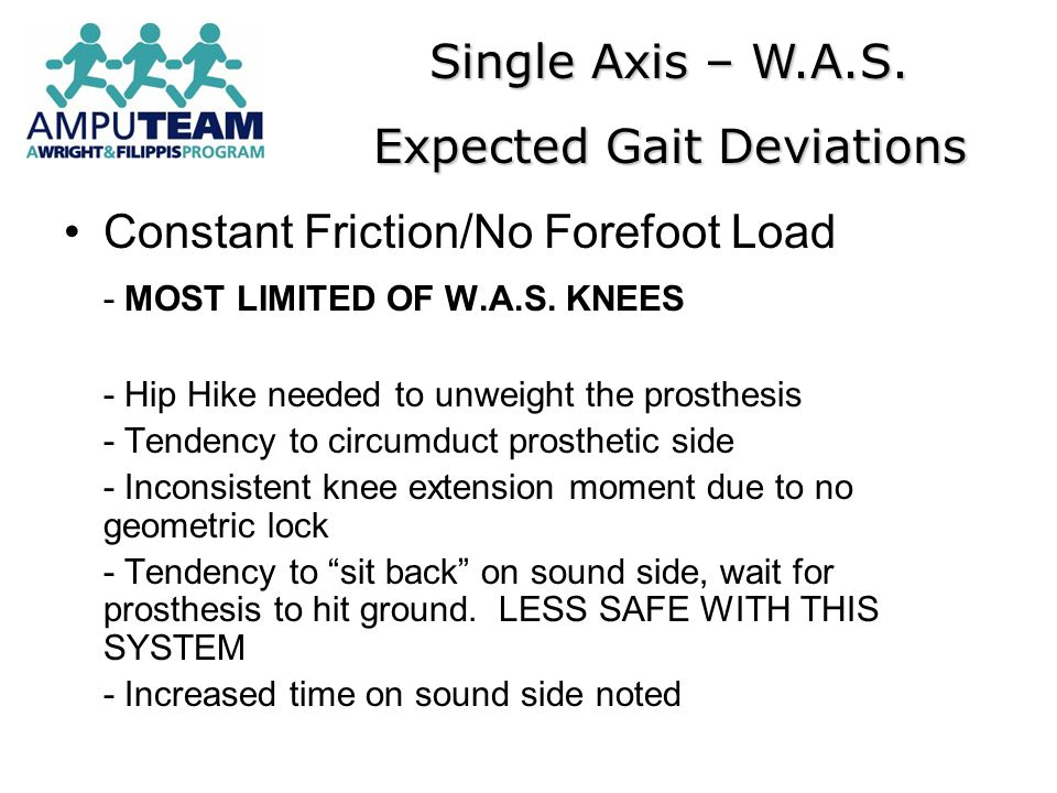 Expected Gait Deviations