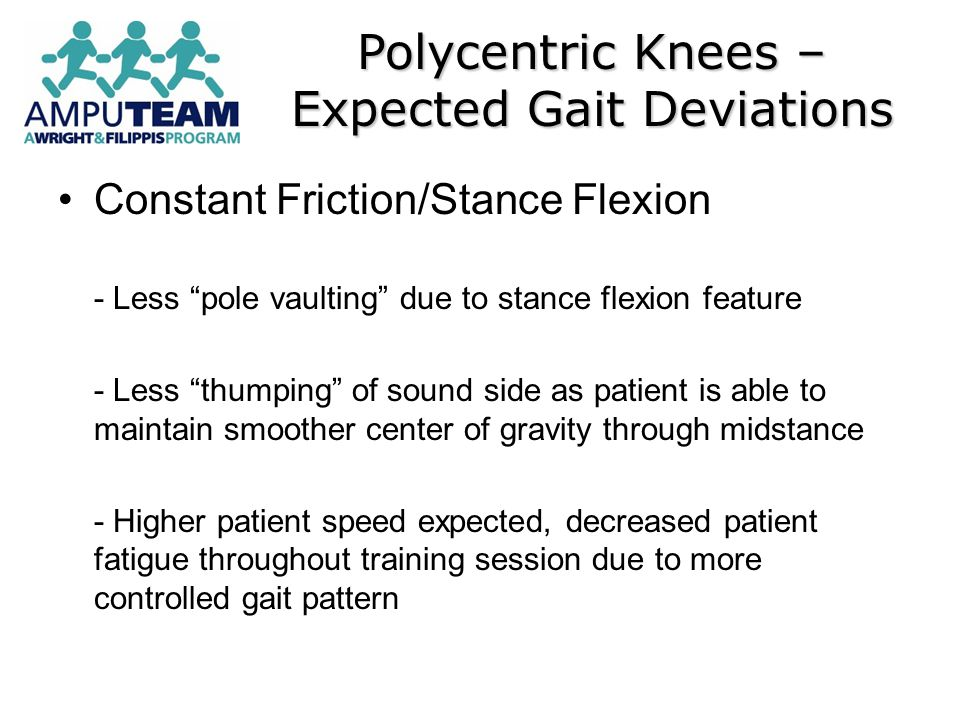 Polycentric Knees – Expected Gait Deviations