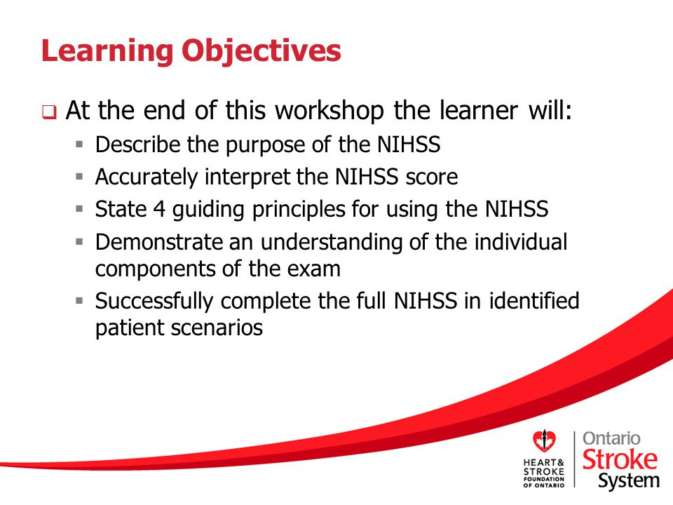 Learning Objectives At the end of this workshop the learner will: