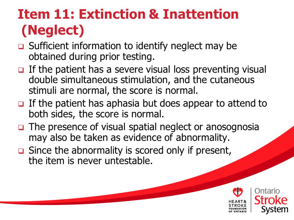 Item 11: Extinction & Inattention (Neglect)